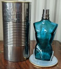 EMPTY JEAN PAUL GAULTIER LE MALE 125ml with TIN perfume bottle for COLLECTOR