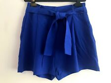 Zimmermann Royal Blue Silk Shorts SZ 0