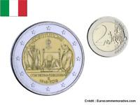 2 Euros Commémorative Italie 2018 Constitution UNC