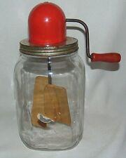 Taylor Churn Company Butter Churn Red Cap USA Model 4D Hazel Atlas Jar 1 Gallon