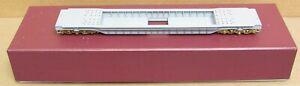 River Raisin Models - 65' Well-Hole Flat Car Gray Primer *BRASS* S-Scale NIB