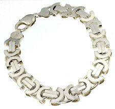 Neu Königsarmband flach 11mm 25cm 925 Silber Armband Herren Männer Herrenarmband