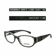 CHANEL 3209-Q c.1263 Gray tweet Black 51/17/135 Eyeglasses Rx Made in Italy New