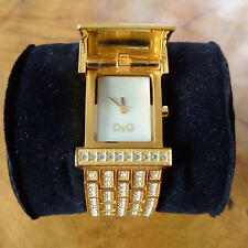 Dolce & Gabbana Bianca Gold Crystal White-D&G DW0003-Damenuhr