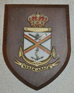 Belgian naval veterans NVOZM / ANAFN ward room plaque shield crest navy
