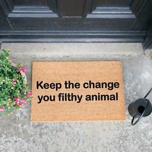 Home Alone Famous Quote Keep The Change Filthy Animal - Novelty Doormat