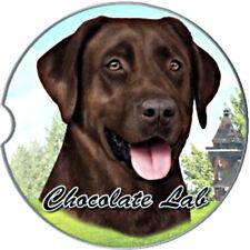 E&S Pets Absorbent Car Coaster Dog Breed Chocolate Lab Labrador Retriever Puppy