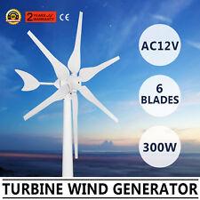 300W 6 Blades AC 12V Horizontal Wind Turbine Power Generator Residential Home