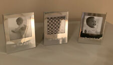 'Baby's First' Picture Frames, Set Of 3, Silver, 1st Smile, 1st Steps, 1st Bday