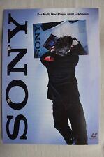 Sony PROSPEKT 8 pagine, con dati tecnici, MDP 740 D, 640,440, audio, STEREOPLAY