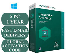 KASPERSKY ANTI-VIRUS 5 PC 1 YEAR ACTIVATION CODE GLOBAL 2020
