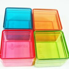 12 Small Plastic Storage Container Box Square Shape 4 Color Jewelry Bead DIY Box