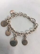 Beautiful 326VI sterling Silver 925 Heart Charm Bracelet