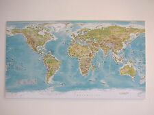 Extra Large World Map - CANVAS ONLY! 50 X 28 inch (Not Ikea)