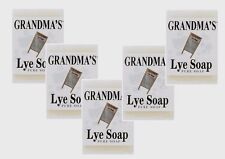 ***5 Remwood GRANDMA'S LYE Soap 6oz Bar Clothing Skin Relieves Pain Itch NATURAL