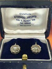 orecchini earrings  vintage TOPPA  ORO 18 KT 750 DIAMANTI taglio rosa anni 50