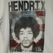 Nwot Women's Jimi Hendrix white muscle tee tank Karl Ferris Collection Size L