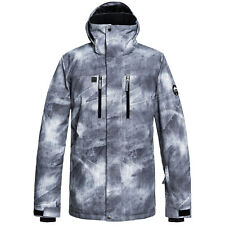 Quiksilver Grey-simple Texture Mission Printed Snowboarding Jacket 1c6762d22d