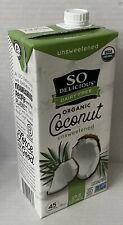 1 So Delicious Dairy Free Organic Coconut Milk Beverage Unsweetened 32oz NEW