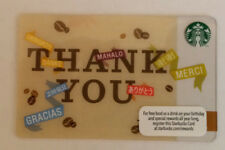 *STARBUCKS* Card - NEW Never Been Used 'Thank You' 2012 Card NO $ Value