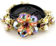 Rhinestone Flower crystal bracelet Fine Enamel Jewelry Betsey Johnson Fashion