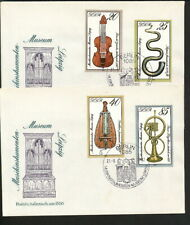 MUSIC OLD antique musical Instruments FDC cover 1979 DDR Germany complete set