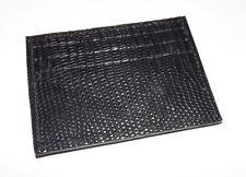 Baglioni Italia Men'S Genuine Lizard Front Pocket Card Case Wallet Black