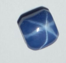 Blue Star Sapphire Square 7x7 MM Flat Cabochon 6 Rayed Lab-created Opaque Stone