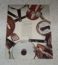 1965 ad page - Ekco kitchen cookware utensils equipment cutlery VINTAGE AD PAGE