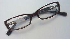 Kunststoff Brille Gestell schmal braun Damenfassung Federbügel rechteck Größe S