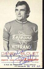 DANIEL BLOUET cyclisme carte signée LEJEUNE VITFRANCE