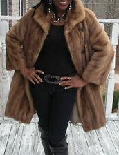 Classy Elegant EMBA Vtg Full length brown Mink Fur Coat Jacket Stroller S-M 2-9