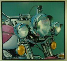 Günther J. Herrmann Harley Davidson Three Lights Fotorealismus Öl signiert 1998