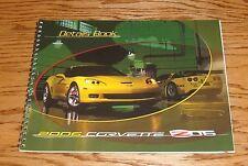 2006 Chevrolet Corvette Z06 Dealer Data Details Book 06 Chevy