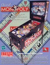 Monopoly Pinball FLYER Original 2001 NOS Promo Artwork Sheet Mr Money Bags Stern