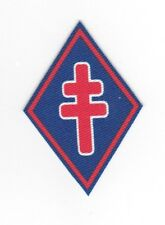 """WWII - 1re DIVISION FRANCAISE LIBRE """"Modèle Imprimé"""" (Reproduction)"""