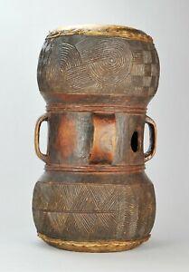 Beau tambour double Tshokwe Chokwe Drum Angola Congo African Tribal art Africain
