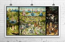 Garden of Earthly Delights Hieronymus Bosch Rolled Canvas Giclee Print 24x40 in.