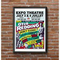Otis Redding Concert Poster - Expo 67 Montreal July 3&4 1967 Worlds Fair Gigs