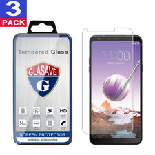 (3 Pack) GLASAVE Tempered Glass Screen Protector For 2018 LG Stylo 4