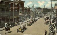 Martinsburg WV West King St. Parade c1910 Postcard