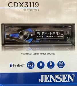 NEW Jensen CDX3119 Single DIN Car Stereo CD Receiver w/ Bluetooth
