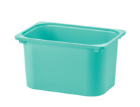 "TROFAST Storage box, turquoise 16 ½x11 ¾x9 "" NEW FREE SHIPPING"