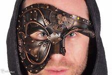 Steampunk Phantom Half Face Masquerade Custom Ball Prom Party Mask Copper