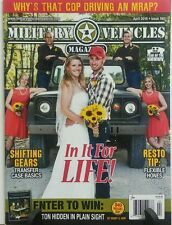 Military Vehicles Magazine April 2016 In it for Life Gears FREE SHIPPING sb