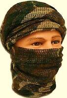 Chèche filet en mailles camouflage C/E état neuf / foulard écharpe camo chech