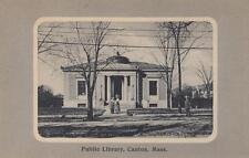 Antique POSTCARD c1907-20 Public Library CANTON, MA MASS. 18841