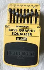Behringer BEQ700 Bass Graphic Equalizer Electric Bass Guitar EQ Effects Pedal