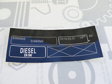 """Original Mercedes Aufkleber """"Diesel"""" W123 W124 W126 W201 W202 W203 W210 W220 NEU"""