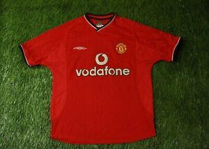 MANCHESTER UNITED 2000-2002 FOOTBALL SHIRT JERSEY HOME UMBRO ORIGINAL YOUNG XL